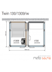 Tylo Impression Twin baltos-šviesaus metalo spalvos apdaila